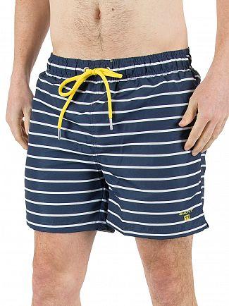 Gant Navy Sailor Classic Striped Swim Shorts