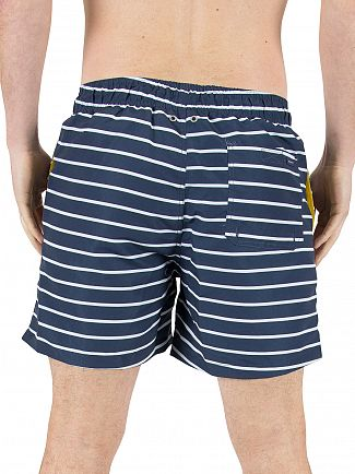 Gant Navy Sailor Classic Striped Swim Shorts
