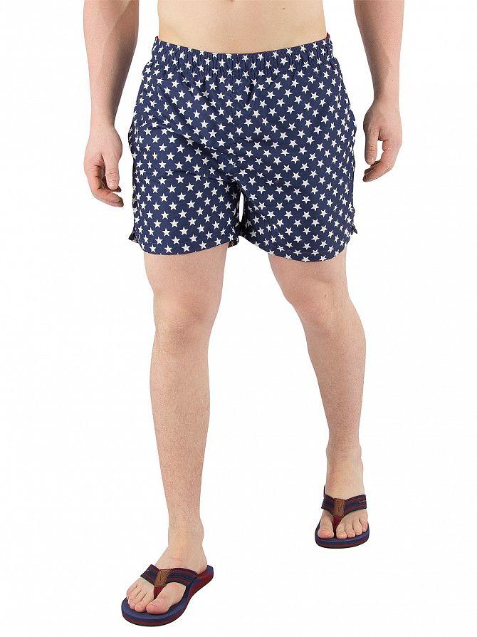Gant Navy Stars Classic Logo Swim Shorts