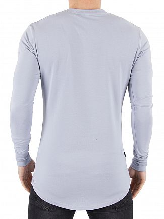 Gym King Grey Dawn Longsleeved Undergarment Logo T-Shirt