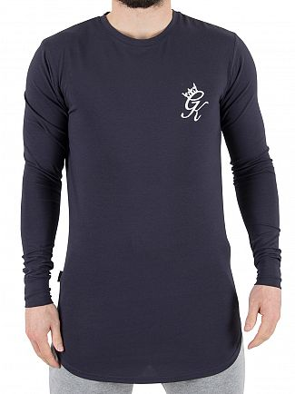 Gym King Blue Nights Longsleeved Undergarment Logo T-Shirt