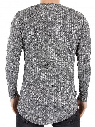 Gym King Mid Grey Longsleeved Undergarment Rib Knit