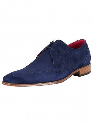 Jeffery West Ante Dark Blue/Tira 1'5 Dark Blue Scarface Suede Shoes