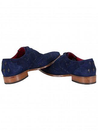 Jeffery West Ante Dark Blue/Tira 1'5 Dark Blue Scarface Suede Shoes