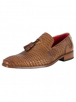 Jeffery West Pasados Tan/Tequila Tan Scarface Weave Leather Shoes