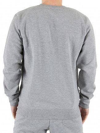 Nicce London Grey Chest Logo Marled Sweatshirt