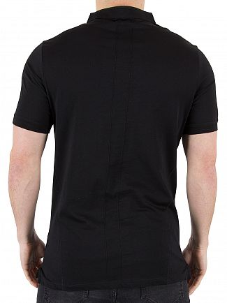 Religion Black Ormont Collarless Logo Polo Shirt