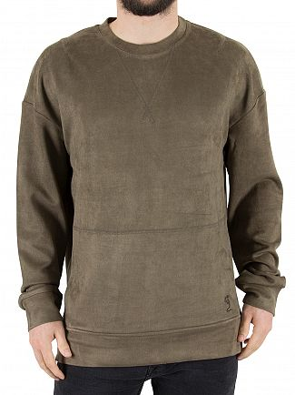 Religion Khaki Tracker Suedette Sweatshirt