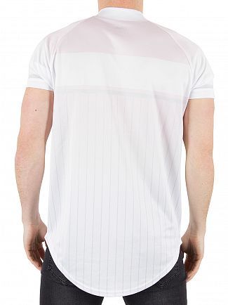 Sik Silk Orchid Pastel Baseball Striped Logo T-Shirt