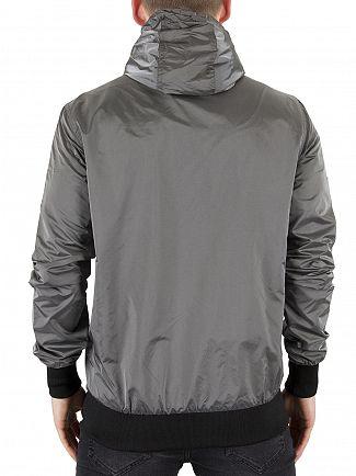 Sik Silk Grey Volcano Logo Bomber Jacket
