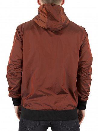 Sik Silk Rust Volcano Logo Bomber Jacket
