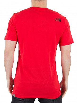 The North Face Red Simple Dome Logo T-Shirt