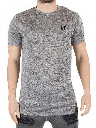 11 Degrees Metallic Slub Composite Marled Logo T-shirt