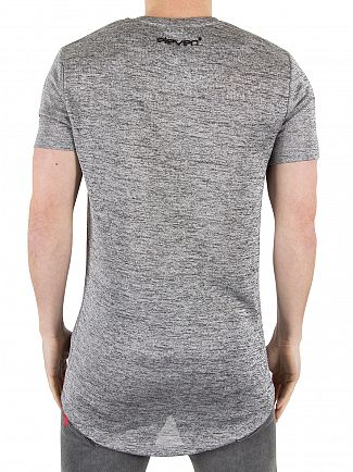 11 Degrees Metallic Slub Composite Marled Logo T-shirt