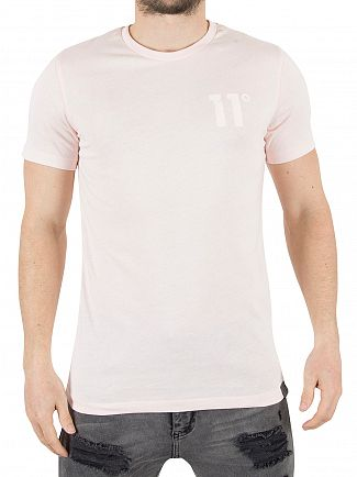 11 Degrees Washed Pink Core Logo T-Shirt