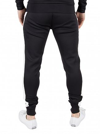 11 Degrees Black/White Poly Logo Stripe Joggers