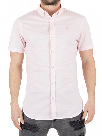 11 Degrees Pink Short Sleeved Logo Shirt