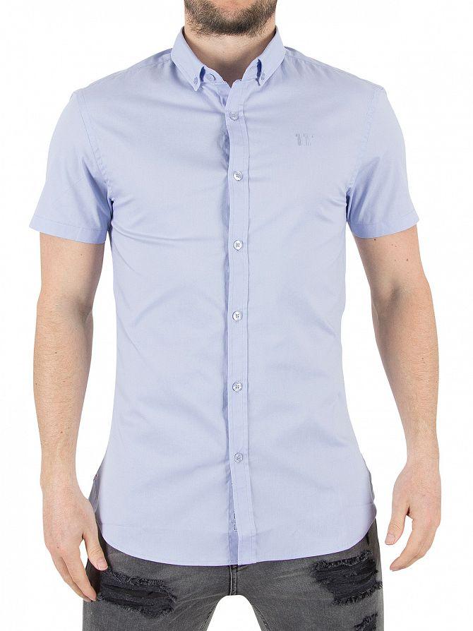11 Degrees Light Blue Short Sleeved Logo Shirt
