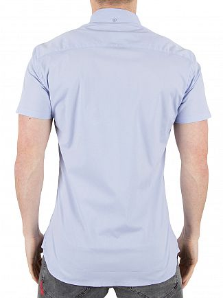 11 Degrees Light Blue Short Sleeved Logo Shirt