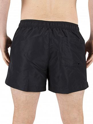 Calvin Klein Black Vertical Stripe Logo Swimshorts