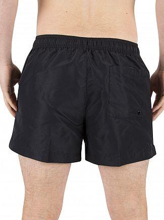 Calvin Klein Black Vertical Stripe Logo Swimshorts