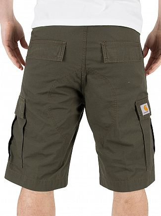 Carhartt WIP Cypress Rinsed Regular Fit Cargo Logo Shorts