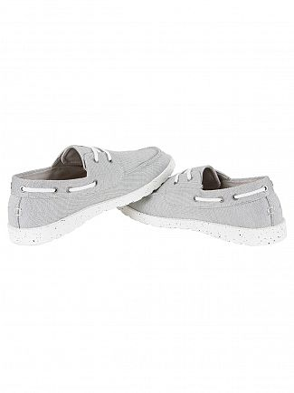 Farah Vintage Light Grey Clegg Boat Shoes