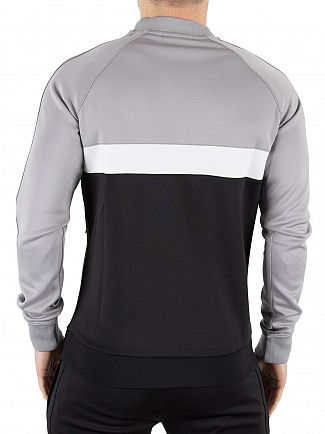 Gym King Black/White/Steel Baseball Collar Panel Zip Jacket