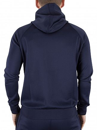 Gym King Navy/Navy GK Tech Poly Logo Zip Hoodie