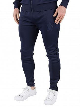 Gym King Navy/Navy GK Tech Poly Logo Track Joggers