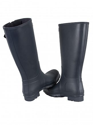 Hunter Navy Original Side Adjustable Wellies