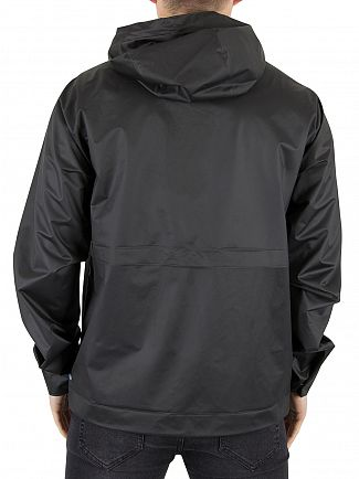 Hunter Black Original Vinyl Windcheater Logo Jacket