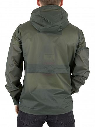 Hunter Dark Olive Original Vinyl Windcheater Logo Jacket