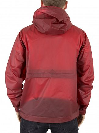 Hunter Military Red Original Vinyl Windcheater Logo Jacket