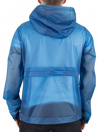 Hunter Ocean Blue Original Vinyl Windcheater Logo Jacket
