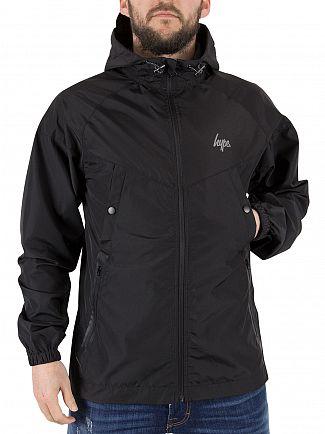 Hype Black Runner Logo Zip Jacket