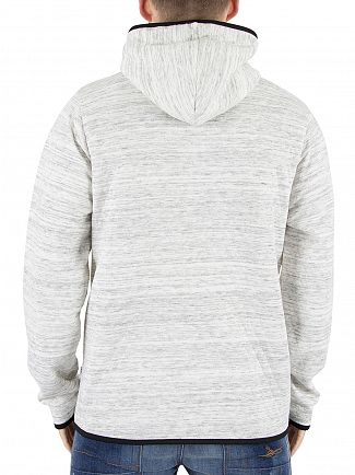 Jack & Jones White Carbon Marled Logo Hoodie