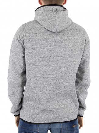 Jack & Jones Light Grey Carbon Marled Logo Hoodie