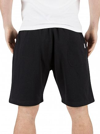 Nicce London Black Original Logo Jog Shorts