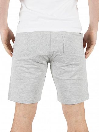 Only & Sons Light Grey Melange Grigori Logo Sweat Shorts