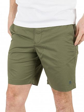 Original Penguin Original Penguin Burnt Olive P55 Stretch Slim Fit Chino Shorts