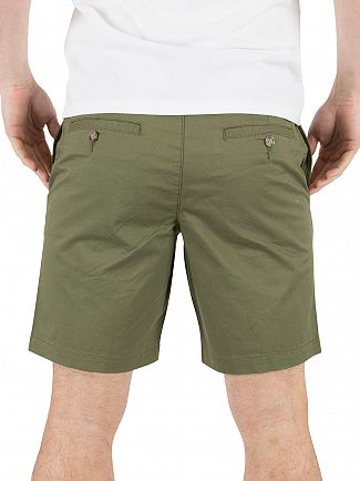 Original Penguin Burnt Olive P55 Stretch Slim Fit Chino Shorts