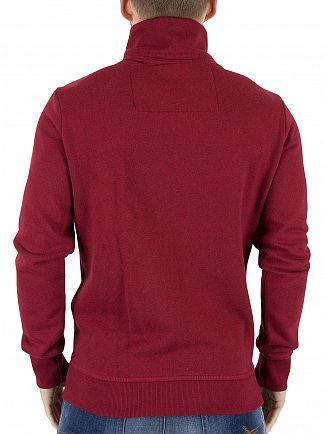 Superdry Super State Red Marl Orange Lable Track Logo Zip Jacket