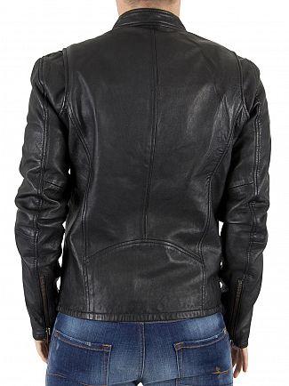 Superdry Black Real Hero Biker Jacket