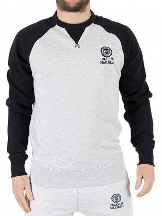 Franklin & Marshall Black Raglan Logo Stamp Sweatshirt