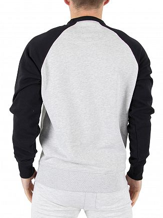 Franklin & Marshall Black Raglan Logo Stamp Sweatshirt