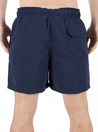 Franklin & Marshall Navy Stamp Logo Swim Shorts