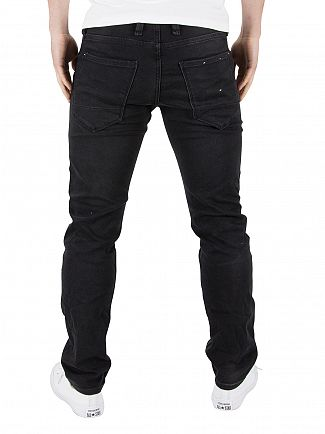 Jack & Jones Black Glenn Indigo Knit Slim Fit 100 Jeans