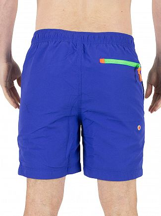 Superdry Royal Blue Premium Water Polo Logo Swimshorts