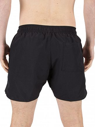 Calvin Klein Black Retro Logo Swim Shorts